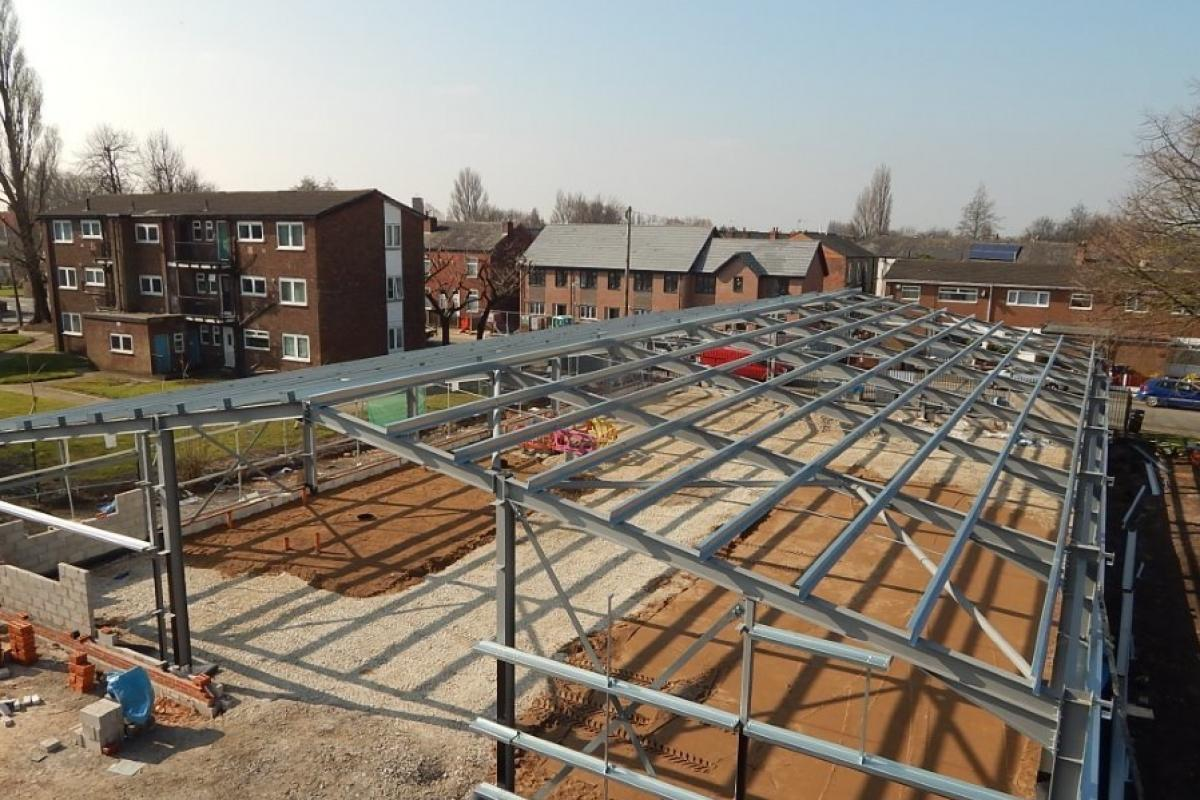 Structural Steelwork - Barton Athlectic Club Salford
